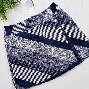 Lady Hagen Navy White Stripe Golf Skirt Skort sz 6